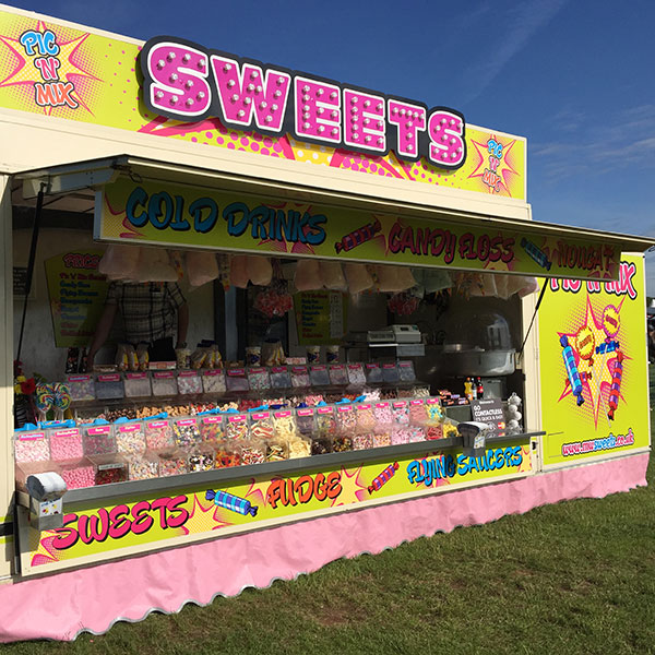 Mobile confectionery sweets unit